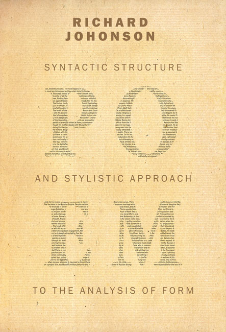 """Book Cover Design Analysis : Design a book cover for """"poem syntactic structure and"""